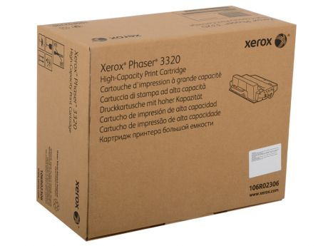 Картридж Xerox 106R02306 для Phaser 3320. Чёрный. 11000 страниц. Print-cartridge hi-cap for PH 3320