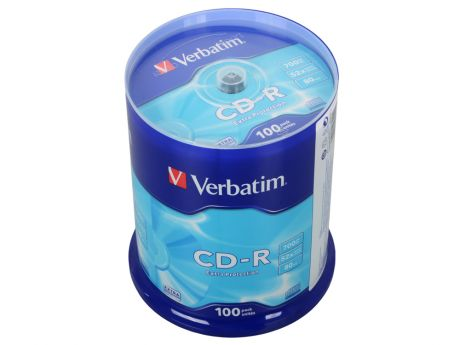 CD-R Verbatim 700Mb 52x 100шт Cake Box