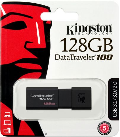 USB флешка Kingston DataTraveler 100 G3 128Gb USB 3.0