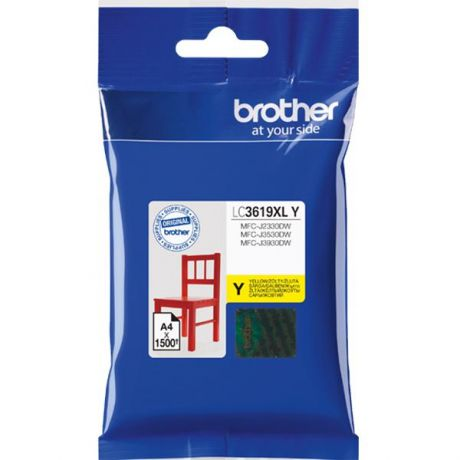 Картридж Brother LC3619XLY для Brother MFC-J3530DW/J3930DW желтый 1500стр