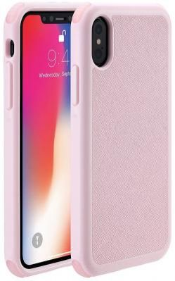 "Накладка Just Mobile ""Quattro Air"" для iPhone X розовый PC-388PK"