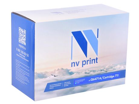 Картридж NV-Print HP Q6471A/Canon 711 голубой (cyan) 4000 стр. для HP LaserJet Color 3505/3600/3800 / Canon LBP-5300/5360 / MF-9130/9170/9220Cdn/9280Cdn