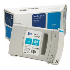 Картридж HP Inkjet Cartridge №80 Cyan (C4872A)