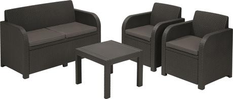 Купить Набор мебели Novara 4 предмета: 1 стул, 1 диван, 2 кресла – цена 17800 руб. в интернет-магазине leroymerlin.ru с отзывами и фото. Наборы садовой мебели