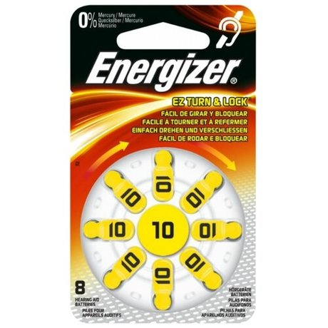 Батарейка Energizer Zinc Air 10 8 шт блистер