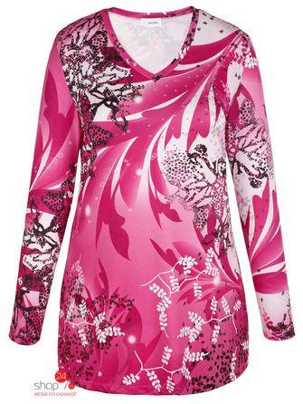 Купить Туника Miamoda Klingel, цвет розовый, рисунок – цена 450 руб. в интернет-магазине shop24.ru с отзывами и фото. Туники Klingel