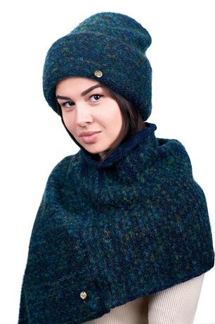 Купить Бини женская Dispacci G2125BR зеленая 56 – цена 1890 руб. в интернет-магазине goods.ru с отзывами и фото. Шапки Dispacci