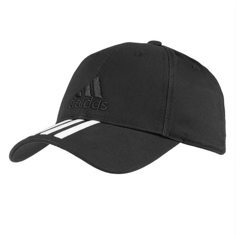 Бейсболка SIX-PANEL CLASSIC 3-STRIPES черная, размер 56