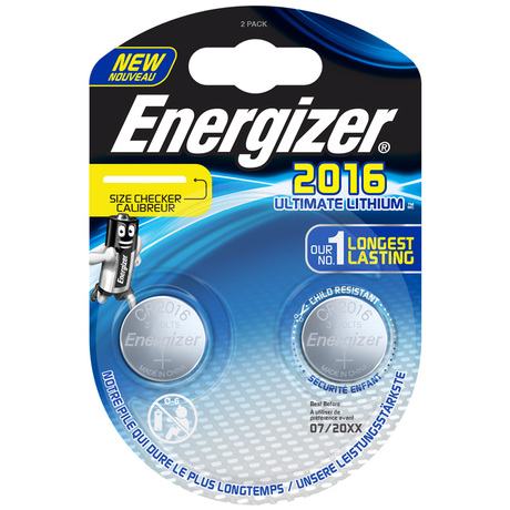 Батарейки литиевые Energizer ENR Ultimate Lithium CR 2016 FSB2 (2 штуки)