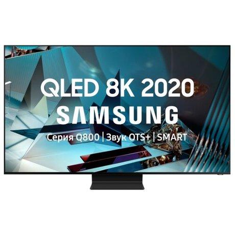 """Купить Телевизор QLED Samsung QE82Q800TAU 82"""" (2020) черный титан – цена 499990 руб. в интернет-магазине beru.ru с отзывами и фото. Телевизоры Samsung"""