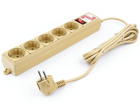Сетевой фильтр Power Cube 5 Sockets 3.0m Beige SPG-MXTR-12