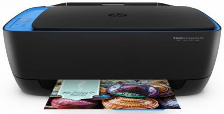 МФУ HP DeskJet Ink Advantage 4729 Ultra F5S66A цветное A4 20/16ppm 1200x1200dpi Wi-Fi USB черный