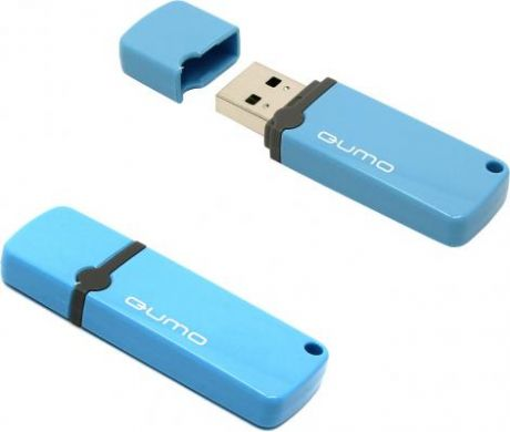 Флешка USB 8Gb QUMO Optiva 02 USB2.0 голубой QM8GUD-OP2-blue