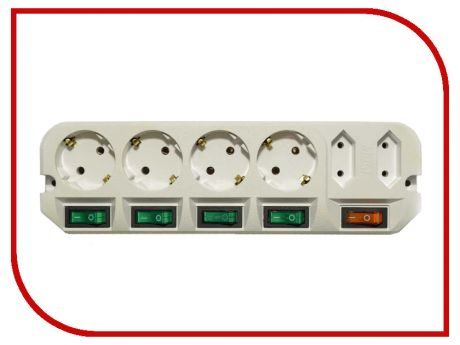 Удлинитель Most A16 6 Sockets 1.6m White