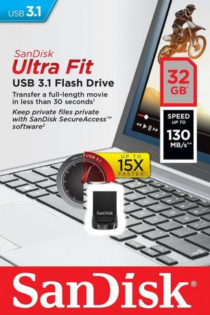 USB флешка SanDisk Ultra Fit 32Gb USB 3.1