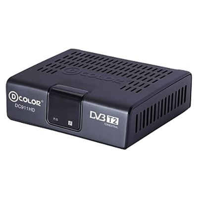 Ресивер D-Color DC911HD ECO черный DVB-T2