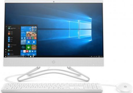 "Моноблок HP 22 22-c0019ur <4GS30EA> i3-8130U (2.2-3.4GHz)/4Gb/1TB/DVDRW/21.5"" (1920x1080)/GT MX110 2GB/WiFi/KB+mouse/DOS/Snow White"