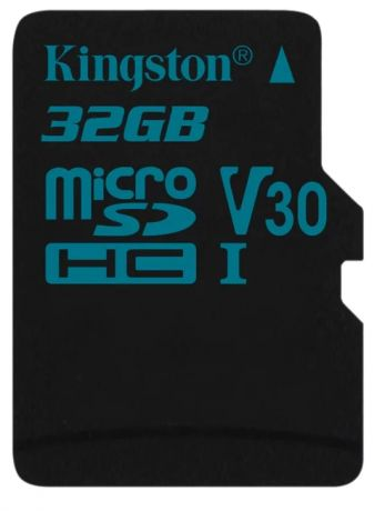 Карта памяти microSDHC 32Gb Class10 Kingston SDCG2/32GBSP Canvas Go w/o adapter