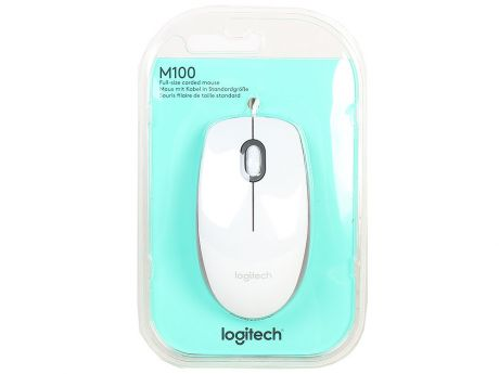 Мышь (910-005004) Logitech Mouse M100 White USB NEW